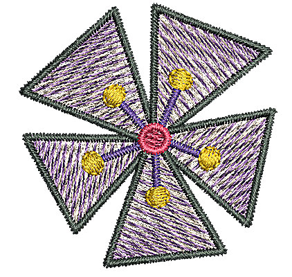Embroidery Design: Flower 2 1.78w X 1.83h