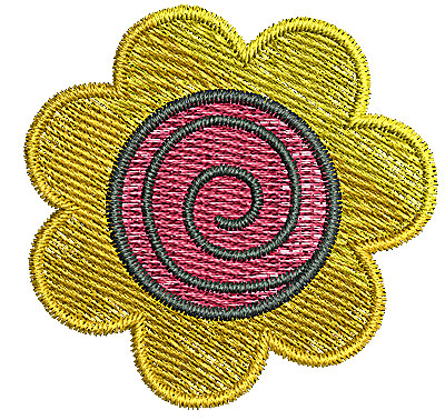 Embroidery Design: Flower 3 1.81w X 1.77h