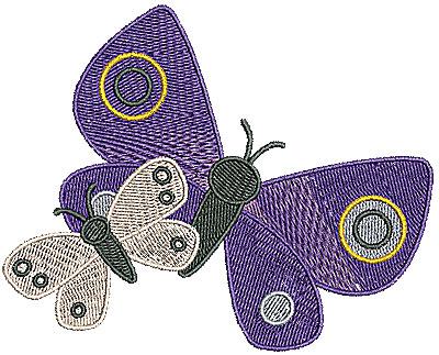Embroidery Design: Butterflies 4.72w X 3.78h