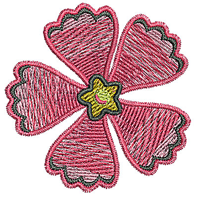 Embroidery Design: Flower 4 1.90w X 1.94h