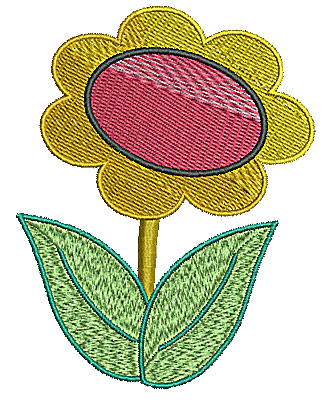 Embroidery Design: Flower 5 3.07w X 3.94h
