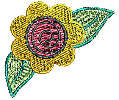 Embroidery Design: Flower 6 2.28w X 1.99h