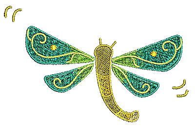 Embroidery Design: Dragonly  4.72w X 2.98h