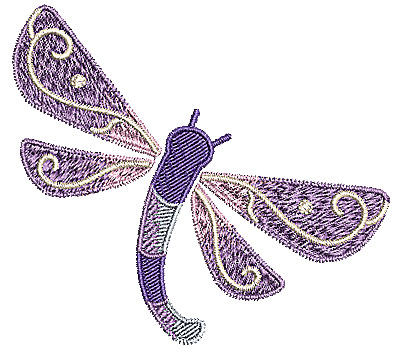Embroidery Design: Dragonfly 2 3.67w X 3.30h