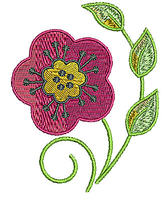 Embroidery Design: Flower 7 2.91w X 3.74h
