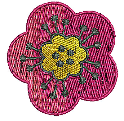 Embroidery Design: Flower 8 2.04w X 2.09h