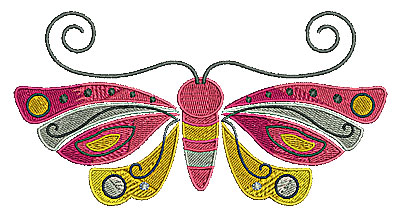 Embroidery Design: Butterfly large 6.50w X 3.39h