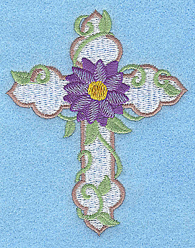 Embroidery Design: Cross with mumm small 3.02w X 3.76h