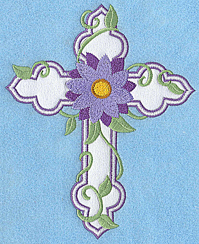 Embroidery Design: Cross applique with mumm 6.16w X 4.96h