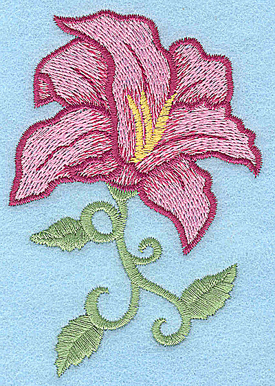 Embroidery Design: Lily 2.61w X 3.87h