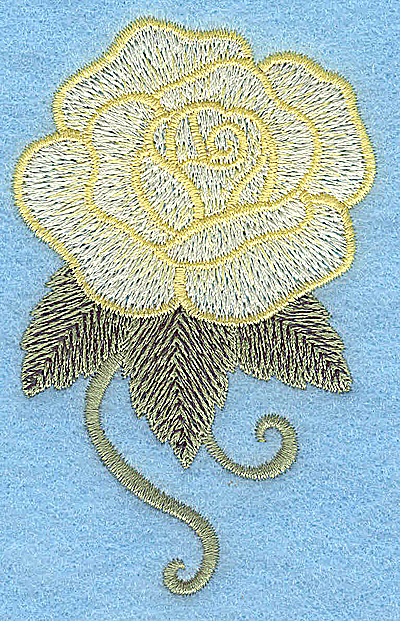 Embroidery Design: Rose 2.34w X 3.72h