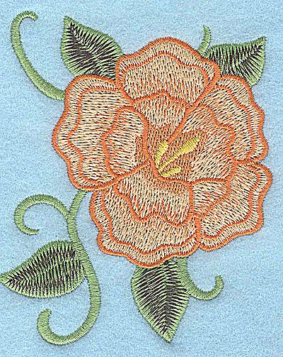Embroidery Design: Peach flower 3.18w X 3.89h