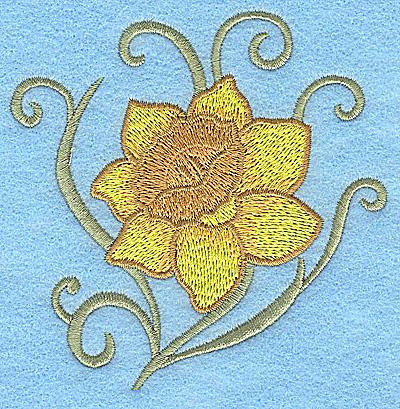 Embroidery Design: Daffodil 3.88w X 3.88h