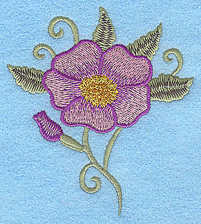 Embroidery Design: Pansy 3.43w X 3.83h
