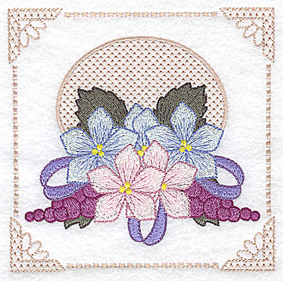 Embroidery Design: Floral design with grapes G large 4.97w X 4.96h