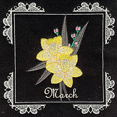 Embroidery Design: March 6.02w X 6.04h