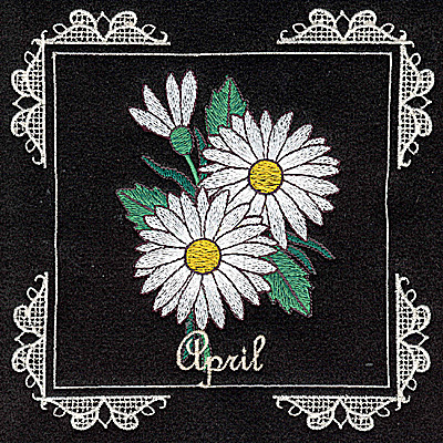 Embroidery Design: April 6.02w X 6.04h