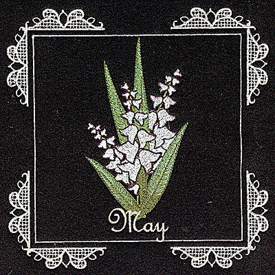 Embroidery Design: May 6.02w X 6.04h