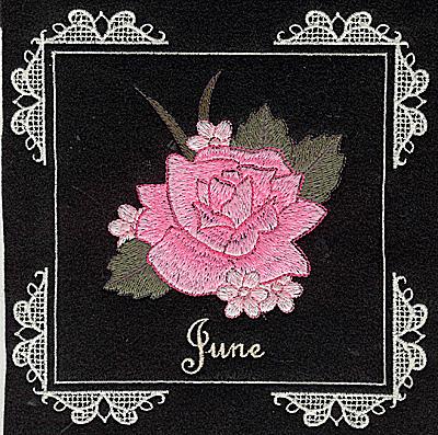 Embroidery Design: June 6.02w X 6.04h