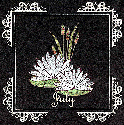 Embroidery Design: July 6.02w X 6.04h