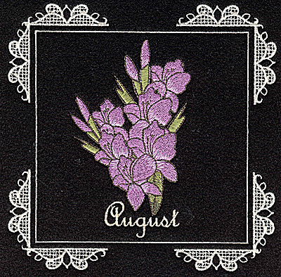 Embroidery Design: August  6.02w X 6.04h