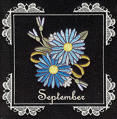 Embroidery Design: September 6.02w X 6.04h