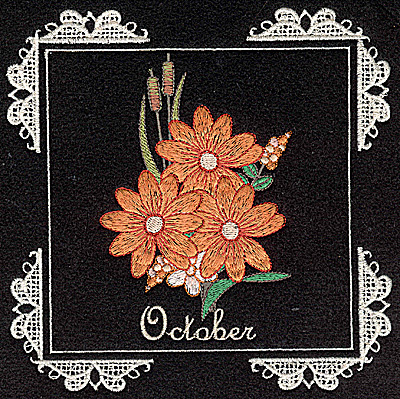 Embroidery Design: October 6.02w X 6.04h