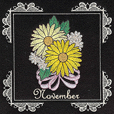 Embroidery Design: November 6.02w X 6.04h