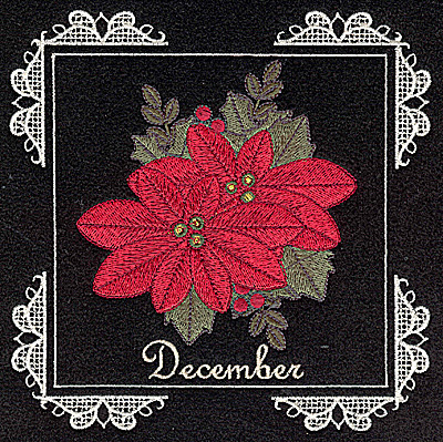 Embroidery Design: December 6.02w X 6.04h