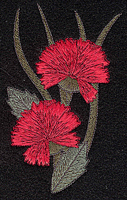 Embroidery Design: Carnation 2.63w X 4.35h