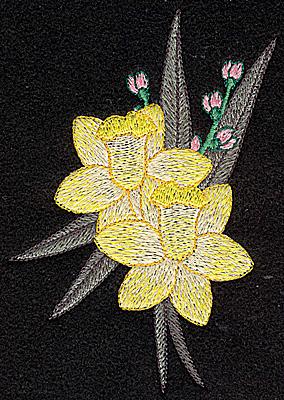 Embroidery Design: Daffodil 3.43w X 4.79h