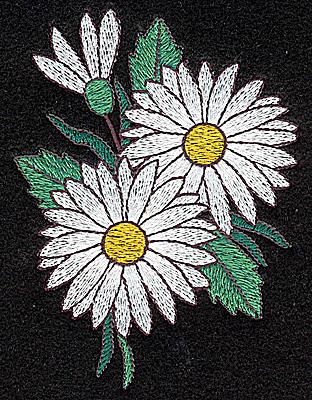 Embroidery Design: Daisy 3.24w X 4.34h