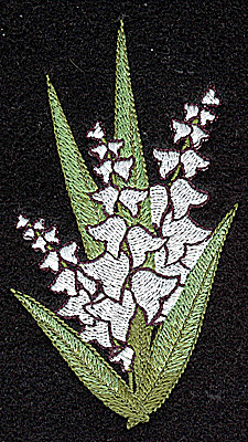 Embroidery Design: Lily of the Valley 2.40w X 4.25h