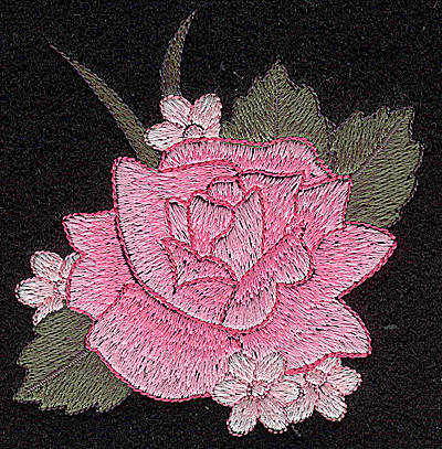 Embroidery Design: Rose 3.49w X 3.60h