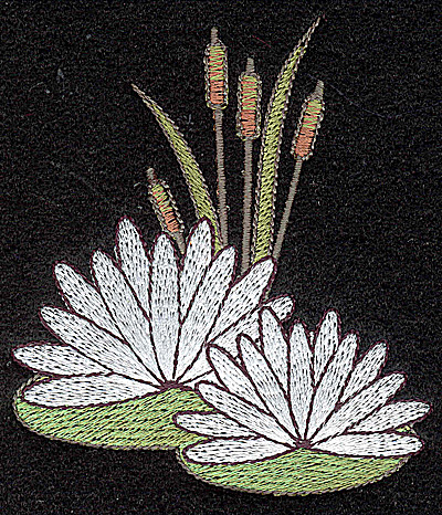 Embroidery Design: Water Lily 3.31w X 3.73h