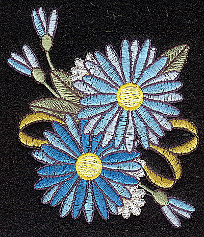 Embroidery Design: Cornflower 3.32w X 3.98h