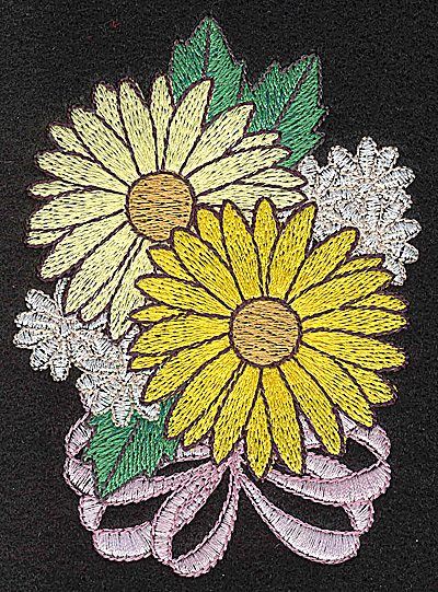 Embroidery Design: Flower 2.98w X 4.14h