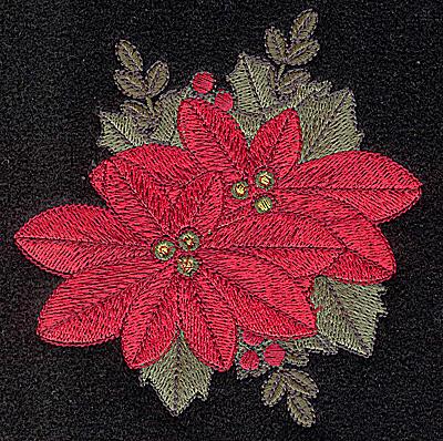 Embroidery Design: Poinsetta 4.01w X 4.12h