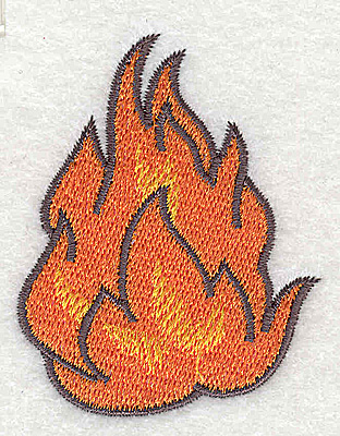 Embroidery Design: Fire A 1.98w X 2.50h