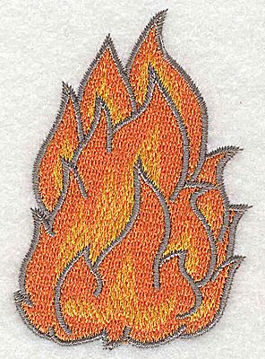 Embroidery Design: Fire B 2.14w X 3.01h