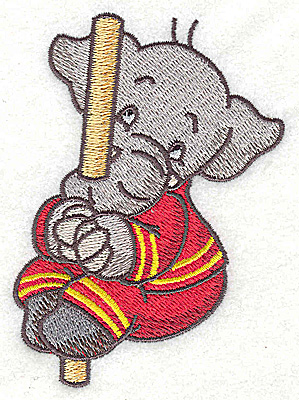 Embroidery Design: Elephant fireman on pole  2.70w X 3.87h