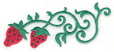 Embroidery Design: Strawberries 3.74w X 1.49h