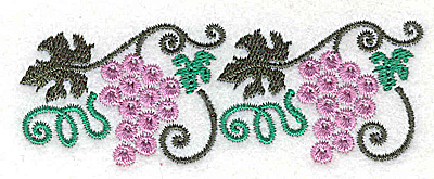 Embroidery Design: Grapes 3.48w X 1.25h