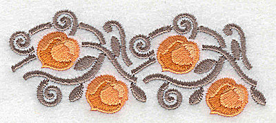 Embroidery Design: Apricots 3.60w X 1.45h