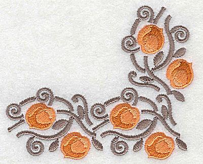 Embroidery Design: Apricot corner 3.76w X 3.10h