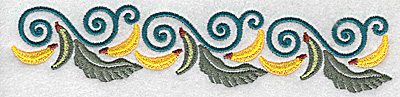 Embroidery Design: Banana border 6.98w X 1.44h