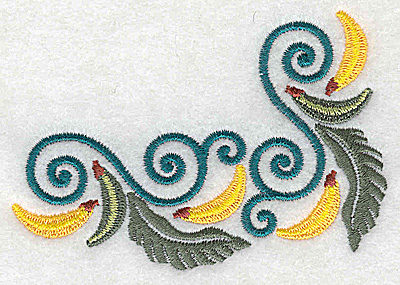 Embroidery Design: Banana corner 3.77w X 2.70h
