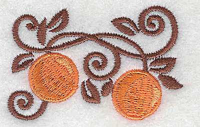 Embroidery Design: Oranges 2.40w X 1.57h