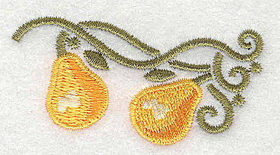 Embroidery Design: Pears 2.60w X 1.34h