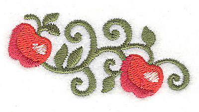 Embroidery Design: Apples 2.65w X 1.27h